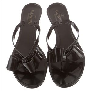 Valentino Bow Slide Sandals